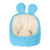 Cute Pet Sofa Portable Guinea Pig Hamster Hedgehog Sleeping House Nest Accessories Winter Warm Crystal Velvet Soft Animal Shape