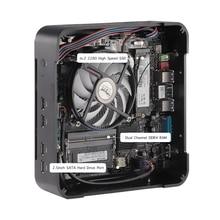 Tragbare kleine größe Intel Core i7 11700 Core i5 11400 Windows11 Linux m.2 ssd mini pc legierung fall mit Fan neueste 19v desktop PC