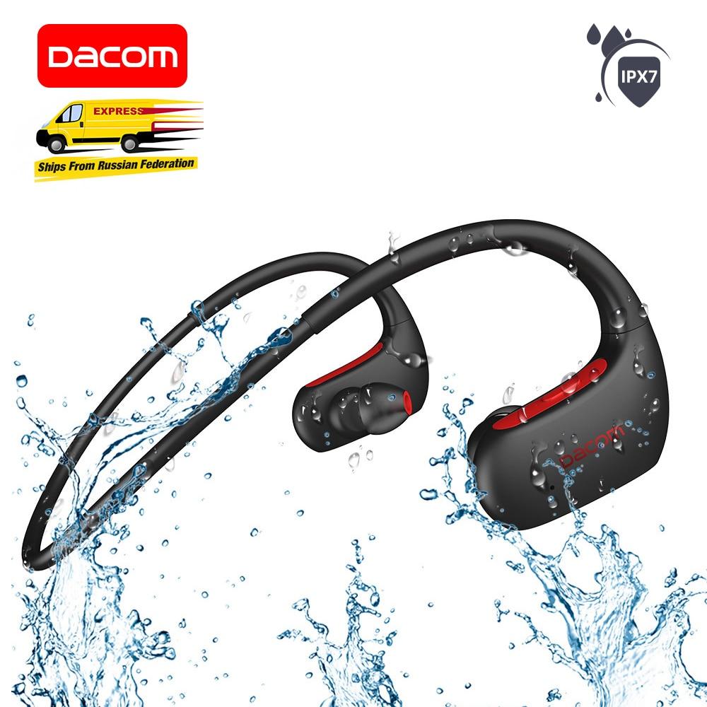 DACOM-Auriculares deportivos L05 con Bluetooth, dispositivo de audio de graves, a prueba de agua IPX7, para correr, con micrófono, para iPhone, Xiaomi y Huawei