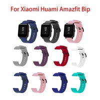 Xiaomi Huami Amazfit Bip 실리콘 팔찌 팔찌 교체 Xiaomi Huami Amazfit Bip 20MM 컬러 TPU 손목 용 스트랩