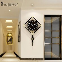 MEISD 장식 벽시계 빈티지 중국어 번체 레트로 진자 시계 홈 인테리어 거실 Horloge 무료 배송