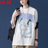 HLM נשים רחב מימדים TShirts 2021 קיץ רופף קצר שרוול y2y יפני אנימה קריקטורות סיילור מון כותנה Harajuku ילדה חולצות