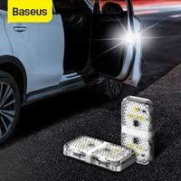 Baseus 4Pcs 6 נוריות רכב פותח דלת אזהרת אור בטיחות נגד התנגשות פלאש אורות אלחוטי מגנטי אות מנורה
