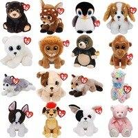 15CM Ty Beanie Big Eyed Doll Soft Stuffed Animal Lion Cat Dog Dragon Unicorn Fox Plush Toy Dolls Girls Best Birthday Gift