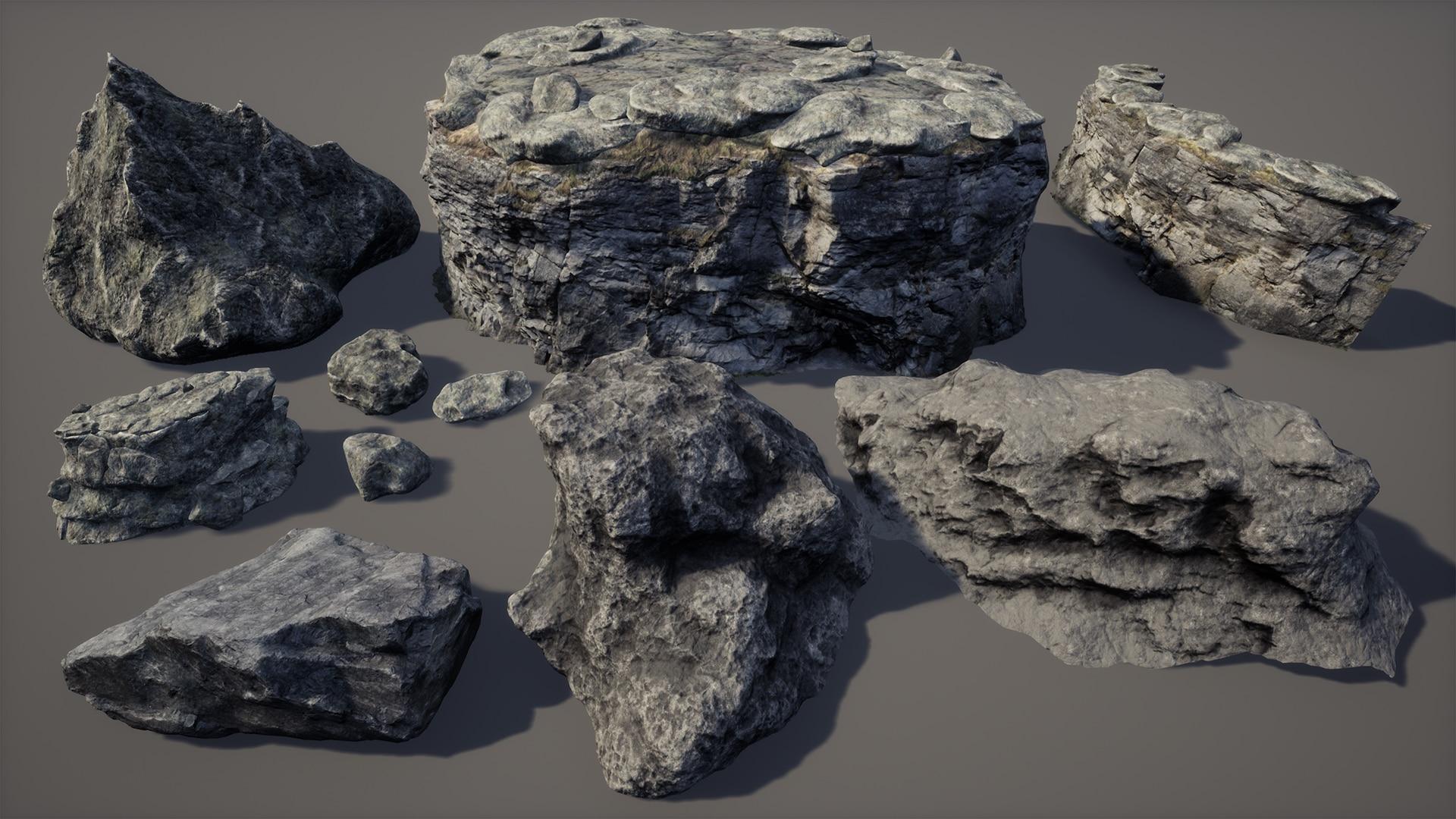 【UE4】Brushify 悬崖石头包