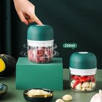 100 / 250ml 미니 USB 무선 전기 마늘 분쇄기 솔리드 크러셔 야채 후추 고기 분쇄기 음식 쵸퍼 주방 도구