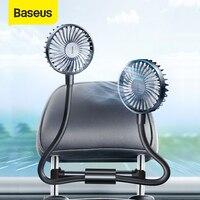 Baseus רכב אוויר למעבד מאוורר 12V מזגן 360 תואר סיבוב עם 1.5M כבל לחזית אחורית מושב קירור מאוורר אבזרים