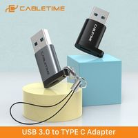 CABLETIME Typ C Adapter USB C zu USB 3,0 A Stecker OTG Lade & Sync Konverter für Handys Laptops tabletten C012