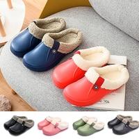 Unisex Home Winter Clogs Indoor Fur Warm Slippers Sandals For Women New Fashion Footwear Flops Mule Slides