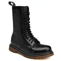 2021 Autumn Winter Classic Women Unisex Martin Boots Waterproof Fur Black High Top Smooth Leather Mens Motocyle Platform Shoes