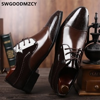 Office Shoes Men Formal Italian Brand Elegant Shoes For Men Crocodile Brown Dress Coiffeur Luxury Designer Party Shoes For Men W