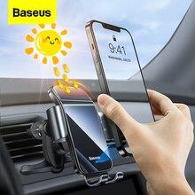 Baseus שמש רכב טלפון מחזיק חשמלי אינדוקציה סוגר עבור iPhone 13 Xiaomi נייד מחזיק רכב אוויר Vent קליפ טלפון Stand