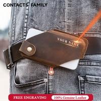 CONTACT'S משפחה 100% אמיתי עור גברים טלפון נרתיק מקרה חגורת מותן תיק עבור iPhone 13 פרו מקסימום 5.4-6.7 אינץ נייד ארנק