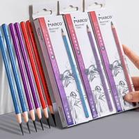 마르코 12 Pcs 소프트 중간 하드 숯 스케치 연필 스케치 드로잉 연필 세트 만화 그림 학생 학교 미술 용품