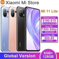 In Lager Globale Version Xiaomi Mi 11 Lite Handy Snapdragon 732G Octa Core 6GB RAM 128GB ROM 64MP Hinten Kamera 4250mAh NFC