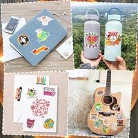 50 stücke Anime Aufkleber Ästhetischen Kawaii Aufkleber für Notebooks Laptop Telefon Auto Bike Moto Tagebuch Gitarre Nette Kinder Sticker pack jdm