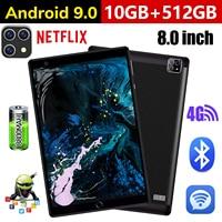 Marke Neue 8,0 zoll tablet Pc Octa Core 4G Anruf Google Markt GPS WiFi FM Bluetooth 8,0 Tabletten 12G + 512G Android 9,0 tab