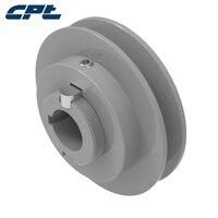 Polia de ajustador pv de ranhura única para ar-condicionado, 1vp50, com chave externa od, 4.75 polegadas (120.65mm) para cintos de 3l, 4l, 5l, a, b, 5v