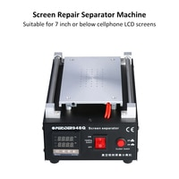 PE-948Q 7 인치 220V/110V 550W LCD 화면 수리 분리기 기계 화면 유리 진공 핸드폰 수리