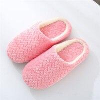 Warm Slippers Women Men Indoor Floor Flat Shoes Spring Autumn Winter Warm Home Cotton Plush Suede Soft Bottom Mute Non-slip Shoe