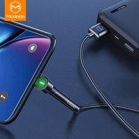 Mcdodo 1.8m usbケーブルを充電するledタイプc携帯電話ホルダー充電器データコードiphone 12 11プロマックスxs xr × 8 7 xiaomi