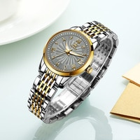 OLEVS Luxury Brand Women Automatic Mechanical Watches Stainless Steel Tourbillon Ladies Watch Waterproof Simple Watch For Women