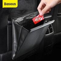 Baseus רכב מושב אחורי ארגונית עור מפוצל אשפה אחסון תיק אוטומטי מושב אחורי רב כיס תליית פאוץ רכב ארגונית אבזרים