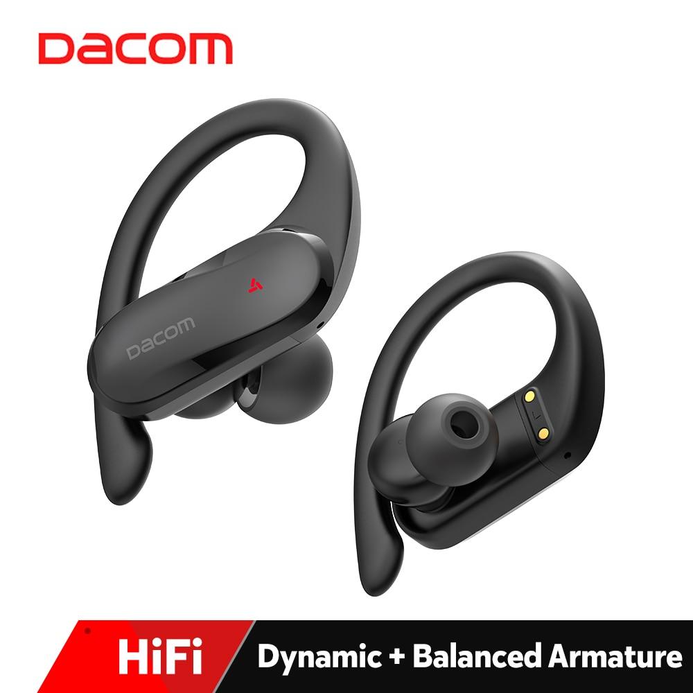 DACOM-auriculares inalámbricos TWS Pro para deportistas, cascos con Bluetooth, híbridos, estéreo, HiFi, resistentes al agua