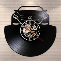 Car Logo Vinyl Record Wall Clock Modern Design Art Silent Unique Decorative Clock 3D Hanging CD Wall Clock Watch 2021 Hot Sale