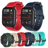 시계 밴드 스트랩 Huami Amazfit GTS GTS 2 실리콘 팔찌 Amazfit BIP U pro / Bip Lite / S /pop pro Bracelet Watchstrap