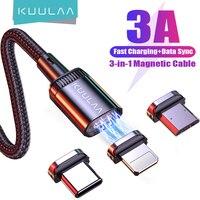 KUULAA USB Ladegerät Kabel Schnelle Magentic Ladekabel Für iPhone Xiaomi Redmi Huawei Samsung Handy USB Kabel Nylon Schnur