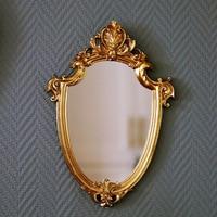 23x33CM 빈티지 거울 절묘한 화장 거울, 욕실 걸이형 거울 선물 여성 레이디 장식 거울 홈 인테리어