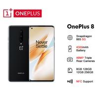 Globale Rom Oneplus 8 5G Handy 8/12GB RAM 128/256GB ROM Android 10 48MP Triple Kamera NFC Smartphone Snapdragon 865