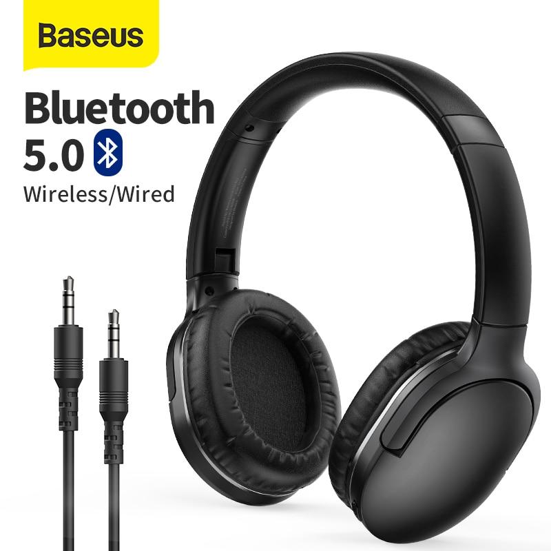 Baseus-auriculares inalámbricos D02 Pro con Bluetooth 5,0, plegables, deportivos, para videojuegos