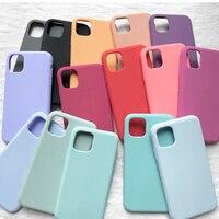 IPhone用のオリジナルの公式シリコンケース,ケース付き,iPhone 11 7 8 plus xr x xs max 6s,12 pro max se 2020