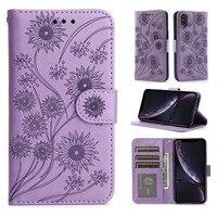 ソフトtpu付きの素敵な花柄の革製携帯電話ケース,iPhone 13 12 11 pro x xs xr max 6 6s 7 8 plus se 2020,