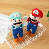 Super Mary game theme cartoon peripheral plush toys Super Mario Luigi brothers doll children's birthday toys Christmas gifts