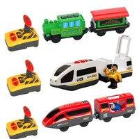 RC חשמלי רכבת סט משאית מגנטי רכבת חריץ Diecast רכב צעצוע Fit עבור עץ רכבת רכבת מסלול יום הולדת מתנה לחג המולד