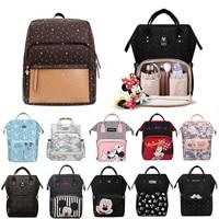 2021 Disney Diaper Bag Baby USB Heating Maternity Fashion Nappy Backpack Large Capacity Nursing Mom Designer Travel Mummy Bag
