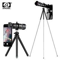 APEXEL HD 60X Telefon Kamera Objektiv Teleskop Objektiv Super Tele Zoom Monokulare + Erweiterbar Stativ Für Alle Smartphone Jagd