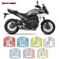 Novo adesivo para rodas de motocicleta de alta qualidade 12 peças, autocolante e refletor para aro de rodas de motocicleta yamaha embutido mt09 tracer