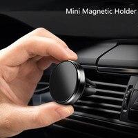 אוניברסלי מגנטי אלומיניום סגסוגת רכב טלפון מחזיק רכב Vent ניווט סוגר אוניברסלי נייד טלפון אדם עצלן סוגר