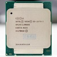 Intel Xeon Prozessor E5 2670 V3 CPU 2,3G Dienen LGA 2011-3 E5-2670 V3 2670V3 PC Desktop-prozessor CPU Für X99 motherboard