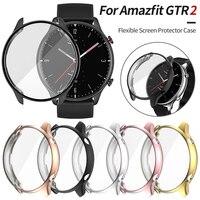 Huami Amazfit GTR 2 2e 시계 케이스 GTR2 E 경량 범퍼 소프트 TPU 스크래치 방지 쉘용 화면 보호기, 유연한 커버