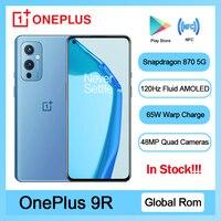 Original Globale Rom OnePlus 9R 5G Smartphone 9 R Snapdragon 870 8GB 128GB 6.55 ''120Hz AMOLED Bildschirm 65W Warp Handy