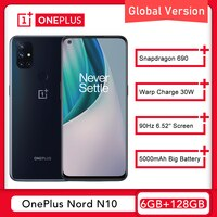 Globale Version OnePlus Nord N10 5G 6GB 128GB Smartphone Snapdragon 690 90Hz Display 64MP Quad Cams warp 30T NFC Nord 10 Telefon