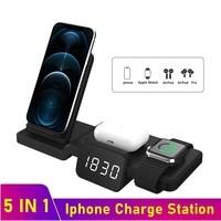 Tongdaytech 5in1 Qi Drahtlose Ladegerät Für Apple Uhr 6 5 4 3 2 1 Schnelle Lade Dock Station Für Iphone 8 eiter X XS XR 11 Pro MAX