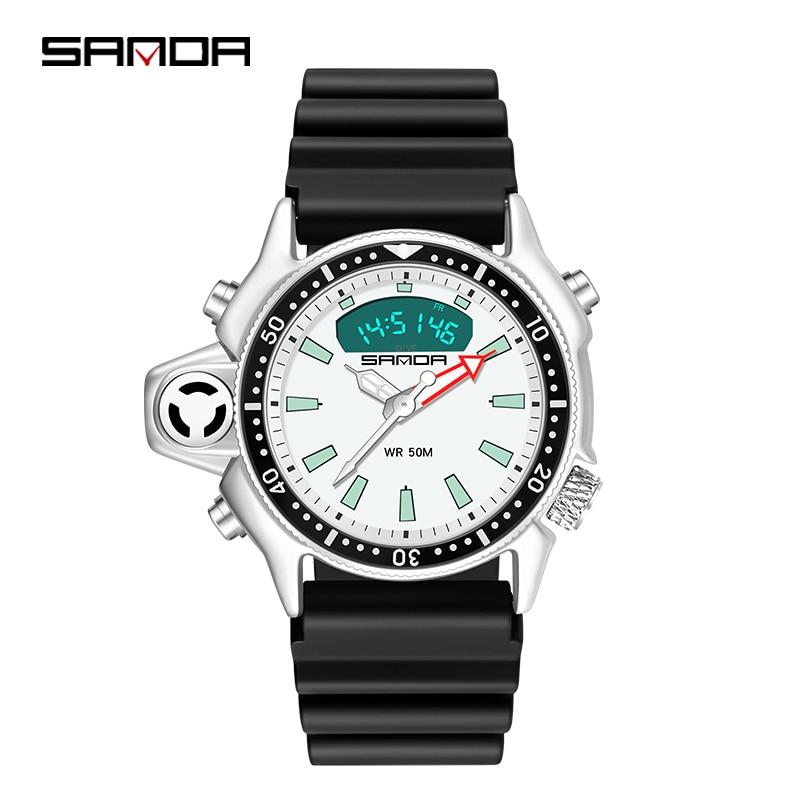 Reloj Digital de lujo para hombre, cronómetro, cronómetro, pantalla, reloj de pulsera electrónico, resistente al agua, masculino