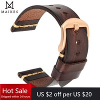 Maikes 정품 가죽 시계 밴드 갤럭시 시계 스트랩 18mm 20mm 22mm 24mm 시계 밴드 tissot Timex 오메가 손목 팔찌