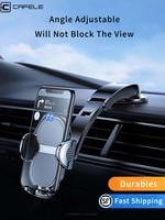 הכבידה אוניברסלי רכב טלפון מחזיק Smartphone נייד אוויר Vent קליפ Stand פרייר אוטומטי נייד תמיכת רכב מוצרי פנים חלק